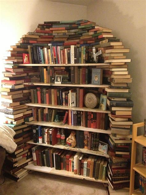 picture of bookshelf with books this is my bookshelf made out of books imgur