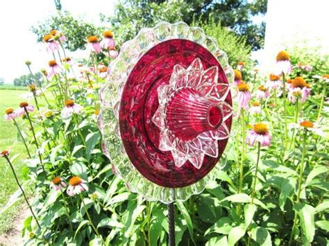 flower plate garden 20 upcycled garden glass flowers made of plates