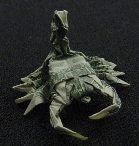 dollar origami shark one dollar scorpion by orudorumagi11 on deviantart
