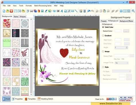 software for cards and invitations wedding card designing software design beautiful