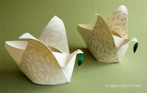 origami box lantern peace dove how to make an origami container in the shape