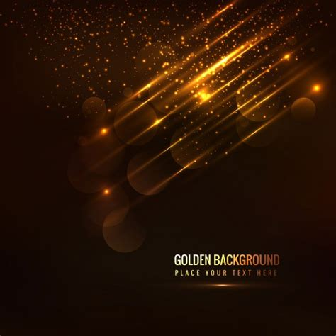 gold lights glowing golden background with light details vector free