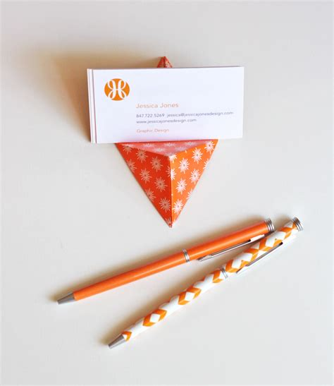 origami stand easy origami business card stand how about orange
