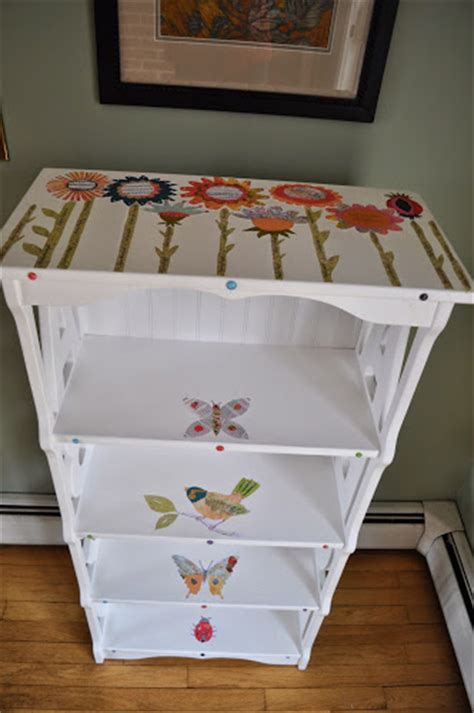 decoupage shelves with decoupage child s book shelf