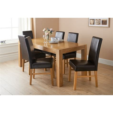 set of dining table and chairs bm newbury oak dining set 7pc dining furniture dining