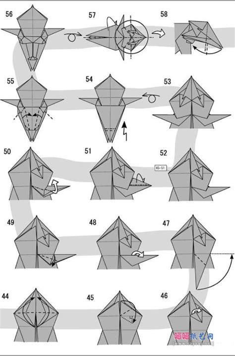 advanced origami diagrams origami 4 origami origami lions and