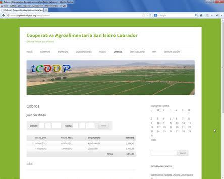 oficina virtual agraria retenciones irpf socios icoop oficina virtual