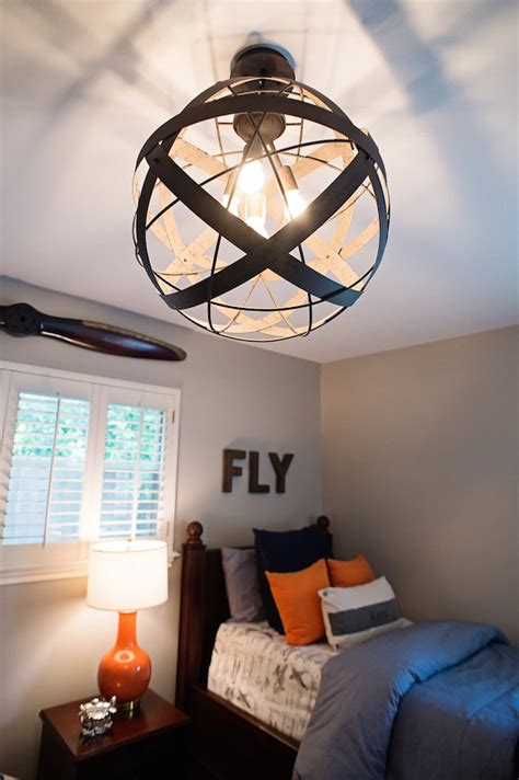 boys bedroom lights navy and orange airplane bedroom house of