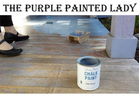 chalk paint exterior using chalk paint 174 outside the purple painted