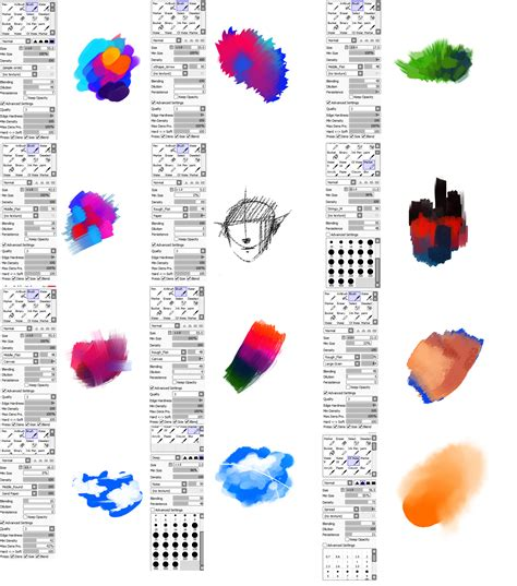 paint tool sai custom brushes brushes type for paint tool sai by ryky on deviantart
