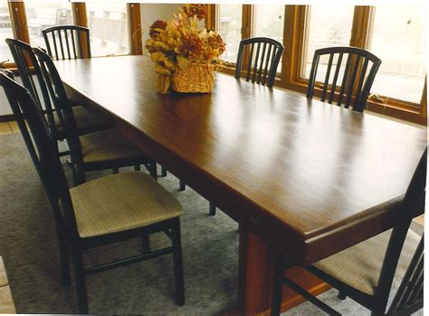 Custom Made Dining Room Tables hand made dining room table by cabinetmaker birdie miller