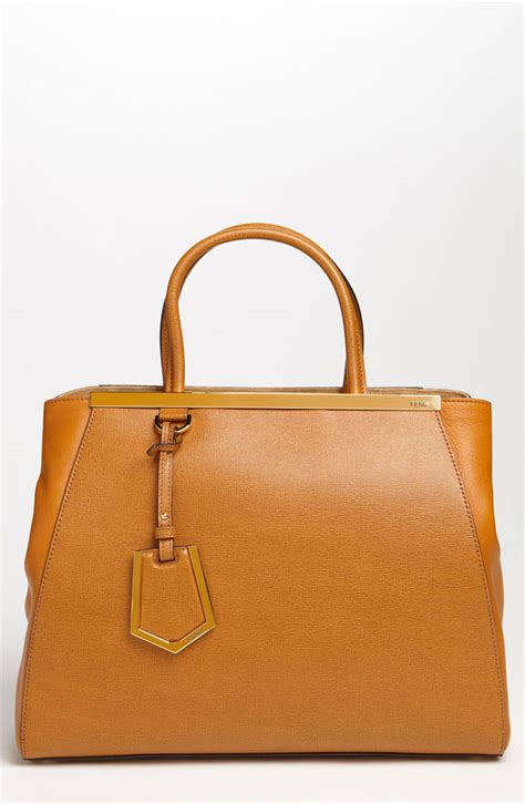 fendi 2jours elite leather shopper who lunch reese witherspoon out to lunch with