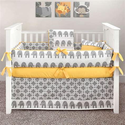 crib bedding grey and yellow luxury nurseries ele yellow baby bedding yellow