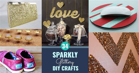 crafts diy projects 34 sparkly glittery diy crafts you ll diy projects
