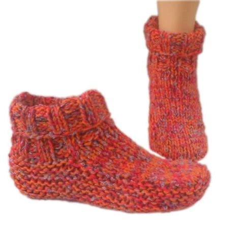 knitted shoes pattern free country slipper socks knitting pattern