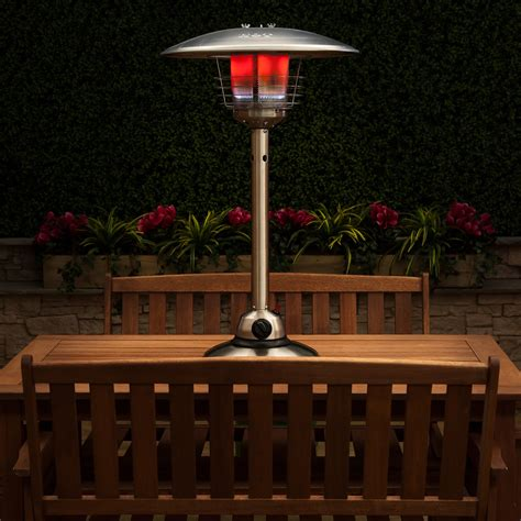 stainless steel table top patio heater stainless steel table top gas patio heater with adjustable