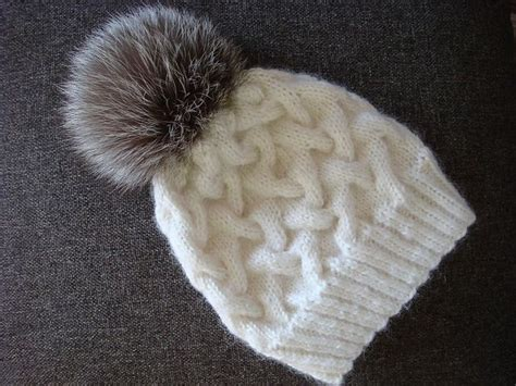 knit beanie needles ravelry winter cable knit hat pattern by annanitato