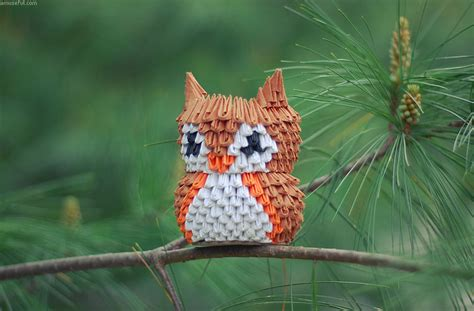 3d origami owl 3d origami paper 30 amazing modular character crafts