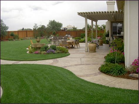 large backyard landscaping create simple back garden ideas in your back yard