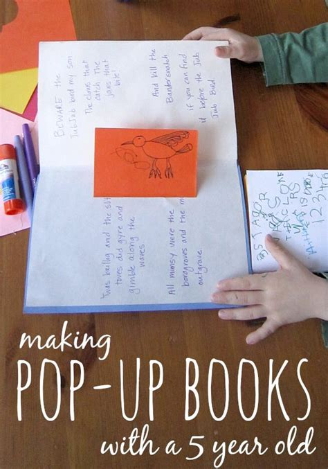 how to make a pop up book with pictures how to make a pop up book with your 5 year