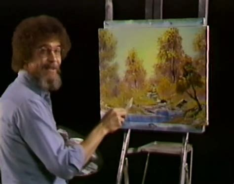 bob ross paints new alert alert bob ross is on omnifeed