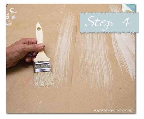 chalk paint wash tutorial how to stencil an ikat fabric effect royal design studio