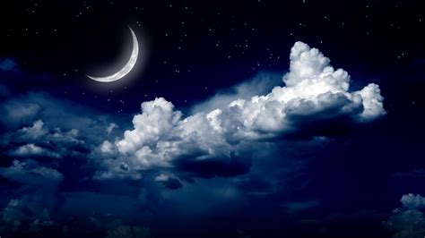 Car Wallpaper With Android Moon by Starry Sky With The Moon Hd Wallpaper Wallpaper