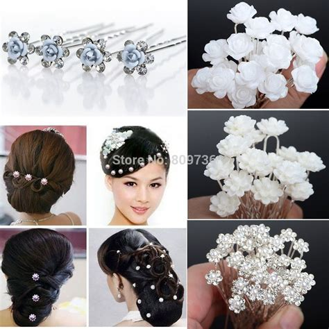 how to make hair jewelry 20 40pcs wedding bridal pearl hair pins flower