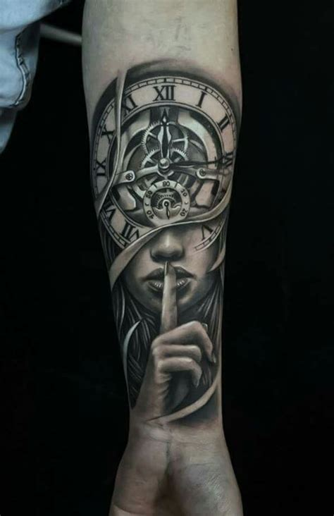 22 attractive clock tattoo designs amp meanings my
