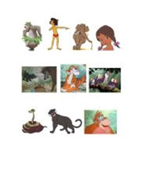jungle book characters names and pictures worksheets the jungle book characters and