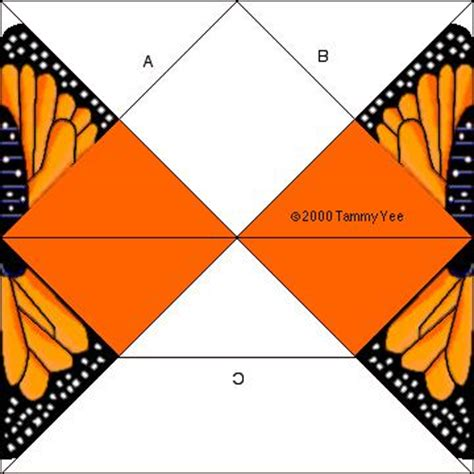 origami butterfly pattern monarch butterfly origami butterfly arts and crafts for