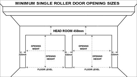 overhead garage door dimensions standard garage door sizes single roller doors
