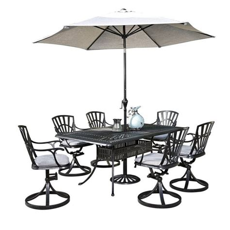 patio dining set with umbrella 8 patio dining set with umbrella in charcoal 5560