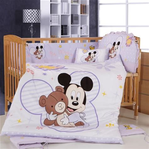 baby mickey mouse crib bedding promotion 8pcs mickey mouse baby crib bedding set for