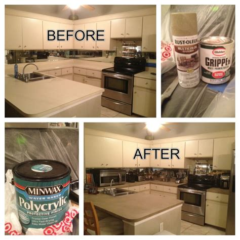 spray paint laminate countertops 1000 ideas about refinish countertops on faux