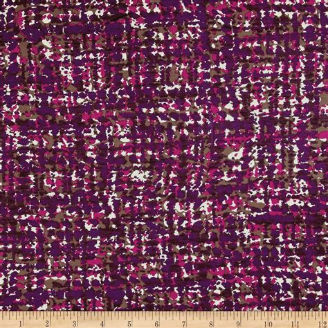 modern jersey knit fabric italian designer rayon jersey knit pixelated plum brown