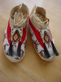 beaded moccasins and s fully beaded moccasins finished in 13 0 tri cut