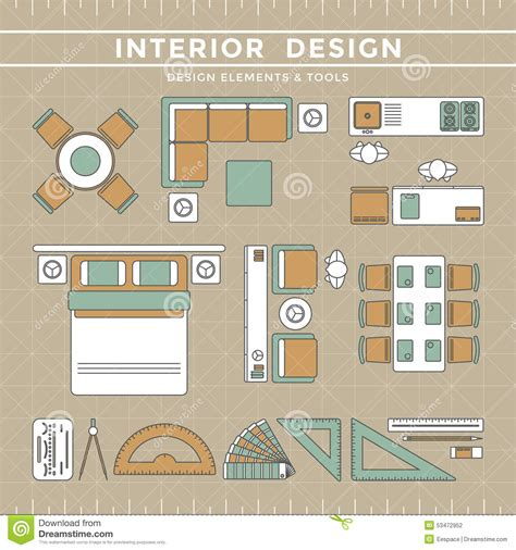 interior design layout interior design layout tools stock vector image 53472952