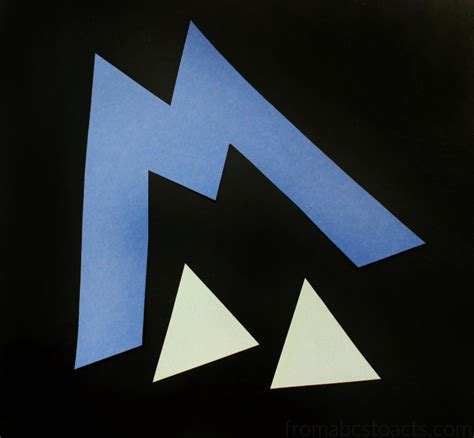 mountain crafts for preschool alphabet book uppercase letter m from abcs to