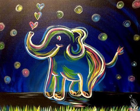 paint with a twist elephant neon elephant fundraiser friday november 11