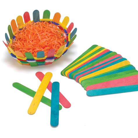 jumbo craft sticks projects pack of 100 coloured jumbo craft sticks with wood