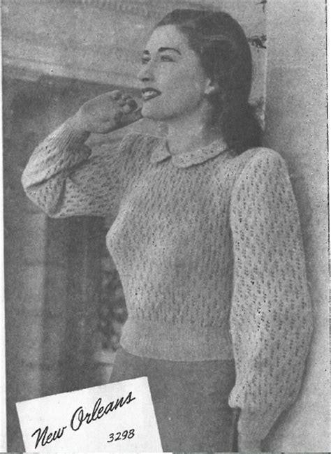 1940 knitting patterns free the vintage pattern files 1940s knitting sun glo