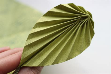 origami leaf card easy origami leaf card shelley makes