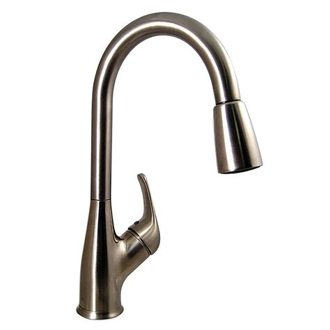nickel faucets kitchen kitchen pull faucet brushed nickel finish valterra pf231461 faucets inlets cing