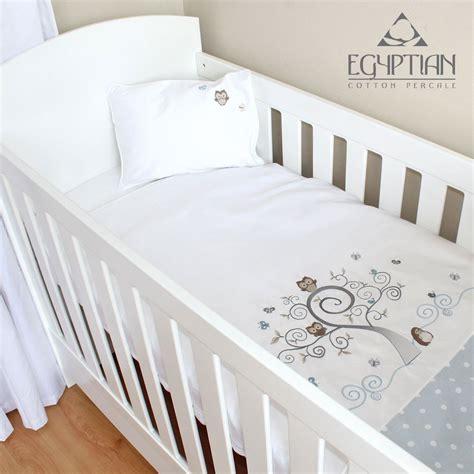 cot bed duvet set baby owl cotton baby cot duvet cover set cove