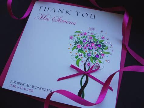 you cards handmade thank you card handmade cards pink posh