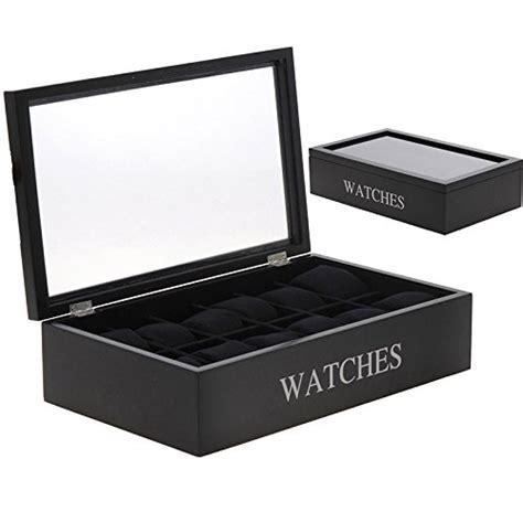 boite coffret de rangement montres pour 12 montres en bois bijoux montres pas cher