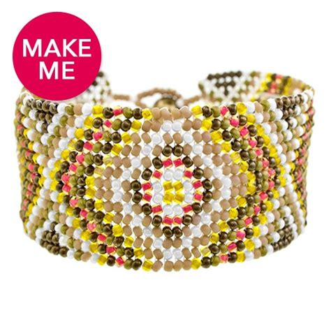 how to make a beaded cuff 16 easy seed bead bracelet patterns guide patterns