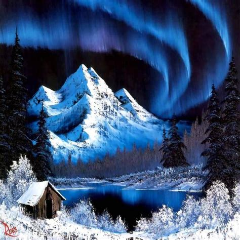 bob ross painting northern lights painting by bob ross northern lights wallpaper