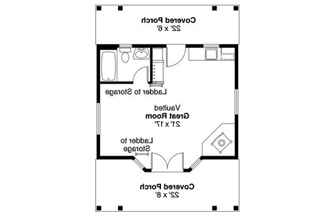 guest cabin floor plans cottage house plans guest cottage 30 727 associated